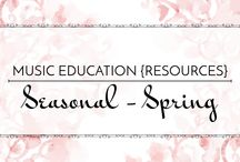 Seasonal: Spring - Music Education {Resources} / Songs and activities for spring, St. Patrick's Day, and Easter