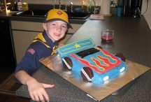 BSA Blue and Gold Cake Ideas
