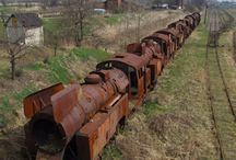 old rusty engines