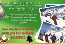 """""""MARRY CHRISTMAS & HAPPY NEW YEAR FROM CLEAR SKY TREKS FAMILY"""" / """"MAY YOUR CHRISTMAS TIME BE BRIGHT FROM THE TIME IT STARTS, WITH MANY WONDERFUL THINGS THAT BRING JOY TO YOUR HEART, AND MAY EACH DAY, THROUGHOUT THE YEAR, BRING EVEN MORE GLADNESS & CHEER. """"MARRY CHRISTMAS & HAPPY NEW YEAR FROM CLEAR SKY TREKS FAMILY"""""""