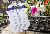 wedding - menus / Wedding Menus - design, creativity and production by r3mg:: creative boutique - www.r3mg.com / by r3mg:: creative boutique