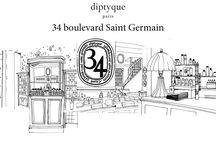 34 Boulevard Saint Germain / Diptyque / La linea si ispira alla prima boutique Diptyque.