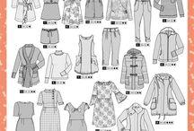 DIY    Damenkleidungschnittmuster, die ich besitze