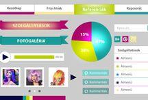 Colorful design / COLORFUL webdesign by webTrendező / A webTrendező által létrehozott COLORFUL design alapon nyugvó látványvilág