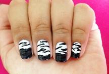unhas de zebrinha