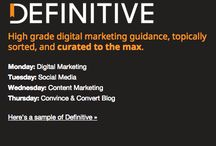 Our Definitive Newsletter / Definitive – High grade digital marketing guidance, topically sorted, and curated to the max.  You pick the categories, We deliver the content. The best content from around the web, on topics you care about and need to be an expert in.  Receive valuable and helpful posts like ones on this board when you subscribe: http://www.convinceandconvert.com/newsletter / by Jay Baer