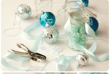 Mint and gold themed party