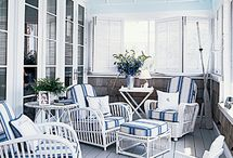 Wicker/cane and porches