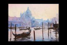 венеция, акварель, видео