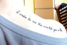 TATTOOS // I wear you on my skin / Tattoos