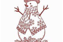 lumiukko taulu