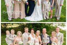wedding family posing