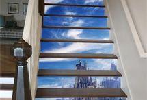Stair risers Ideas