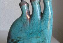 Geesje / Drie zussen blauw keramiek