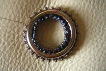 beaded ring pendent