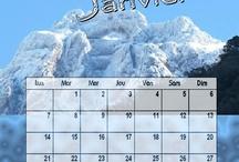 calendriers by jennycréas / differents calendrier fais par moi pour des clients . Tout peut etre changer , tout est personnalise