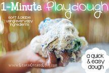 Fun play recipes / Homemade play materials for sensory play. Bubbles, homemade paint etc