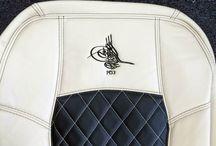 Individuelles Logo / Bei Seat-Styler seit Ihr der Designer! Ihr könnt euer eigenes Design auf eure Autositzbezüge sticken lassen. Hier seht ihr einige Beispiele von unseren Kunden.  #autositzbezuege #Konfigurator #design #zacasi #Likes