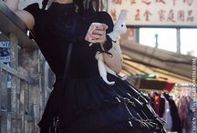 Chinatown / Gloomth explored Chinatown with model Vamp, photography by Rune Photography. Gothic Lolita fashion on the streets!