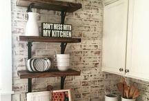 armoires de cuisine et îlots