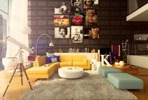 Living Room Ideas / My living room ideas Johanna's words: vibrant, playful, inspired, conversational