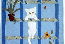 Cats and Quilts / Cats on quilts, cats in quilts, cats under quilts and cats on other craft and sewing items!