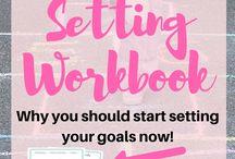 Goal Tracking / Goals, goal setting, tracking, printables, templates, workbook, worksheet, tips, time management, productivity