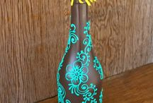 Garrafas Decoradas / Idéias para decorar a casa