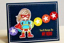Card hero stamp