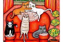 cats / by MURIEL REYNOLDS