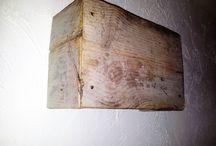 steigerhout / handgemaakte steigerhouten interieur decoratie en verlichting
