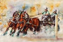 Obrazy malované podle fotek Šárky Veinhauerové