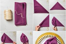 Napkin Origami / Napkin folding ideas for all meals and holidays.  Using paper or cloth napkins.  Making tablescapes better.