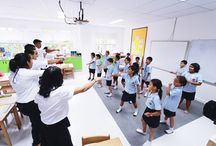 Punctuation Day 2016 / Students practised their Kung Fu punctuation as part of a day filled with commas, brackets and question marks. Punctuation Day events were organised by Services' Prefect Jignil. This included a presentation to Tutor Groups about the history and importance of punctuation. Then, IB students and Prefects visited Primary to test out their knowledge of Kung Fu punctuation – where every punctuation example has a corresponding martial arts' move!