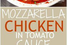κοτόπουλο κόκκινο με μοτσαρελα