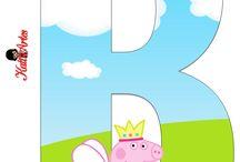 abecedario peppa pig