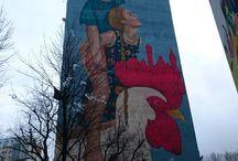 Murale / Ciekawe malunki, jakie napotkam