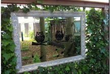mirrors in the garden