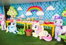 Cenário - My Little Pony / A festa do My Little Pony é bem colorida e fofa!