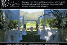 Special offer to future brides / Book your free wedding consultation before 28 Feb 2014 and you could win 20% discount on flowers, decor or hiring