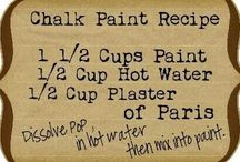 Paint finishes / techniques / Milk paint. Chalk paint. Waxes. Dos and don'ts. :)