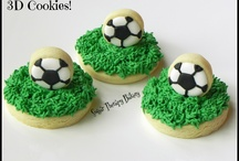 Decorated cookies, sports and transportation