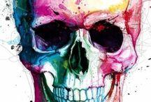 Teschio watercolor