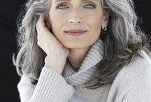 beautiful grey hair