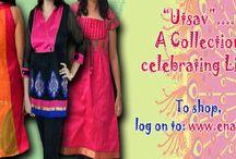 "Enaya -The ""Utsav"" Collection / Shop for vibrant kurtis and tunics this festive season at www.enaya.in"