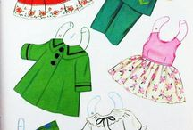 Papírbabák, ruhák