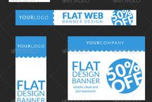 flat design banners