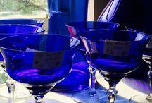 kobaltowe szkło