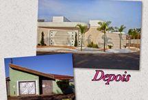 Reforma de uma casa de esquina compacta! / Veja + Inspirações e Dicas de decoração no blog!  www.construindominhacasaclean.com