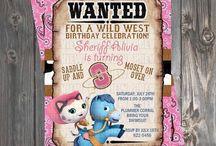 Invitaciones de Sheriff Callie
